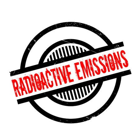 hazardous waste: Radioactive Emissions rubber stamp. Grunge design with dust scratches. Effects can be easily removed for a clean, crisp look. Color is easily changed. Illustration