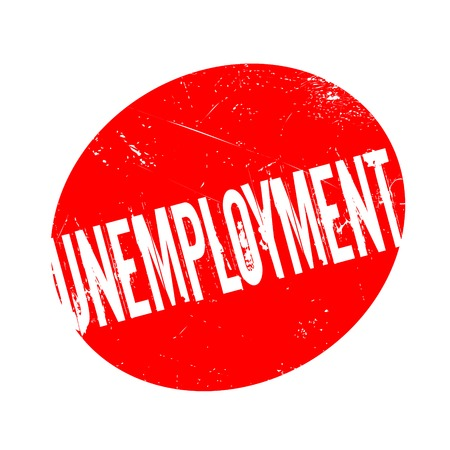 now hiring: Unemployment rubber stamp. Grunge design with dust scratches. Effects can be easily removed for a clean, crisp look. Color is easily changed. Illustration