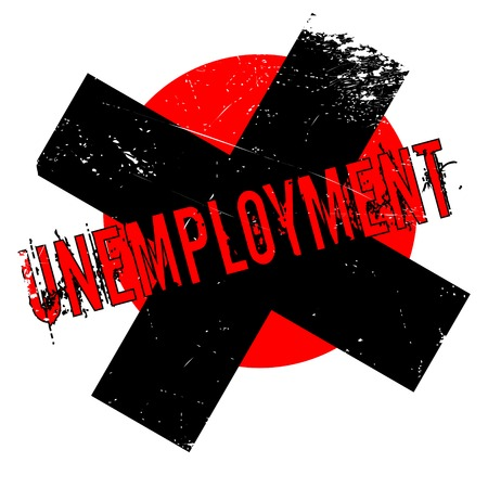Unemployment rubber stamp. Grunge design with dust scratches. Effects can be easily removed for a clean, crisp look. Color is easily changed. Illustration