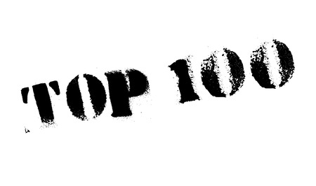 one hundred and ten: Top 100 rubber stamp. Grunge design with dust scratches. Effects can be easily removed for a clean, crisp look. Color is easily changed.