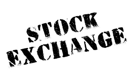 economic downturn: Stock Exchange rubber stamp. Grunge design with dust scratches. Effects can be easily removed for a clean, crisp look. Color is easily changed. Illustration