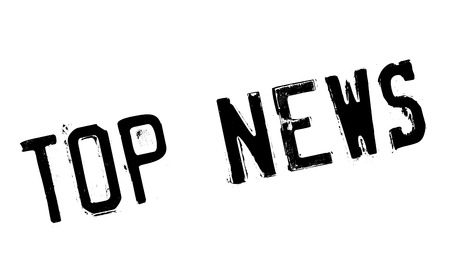 Top News rubber stamp. Grunge design with dust scratches. Effects can be easily removed for a clean, crisp look. Color is easily changed.