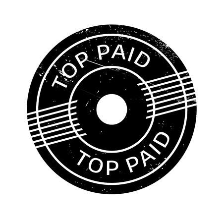 culminating: Top Paid rubber stamp. Grunge design with dust scratches. Effects can be easily removed for a clean, crisp look. Color is easily changed.