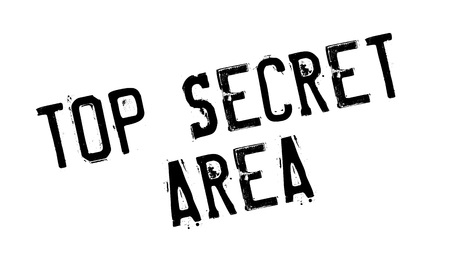 covert: Top Secret Area rubber stamp. Grunge design with dust scratches. Effects can be easily removed for a clean, crisp look. Color is easily changed.