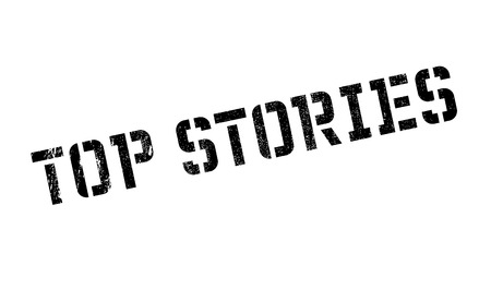 culminating: Top Stories rubber stamp. Grunge design with dust scratches. Effects can be easily removed for a clean, crisp look. Color is easily changed.