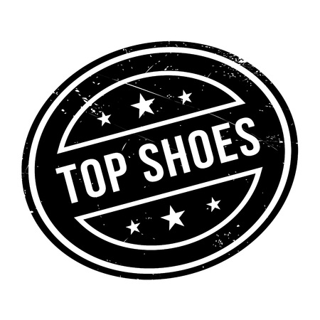 pump shoe: Top Shoes rubber stamp. Grunge design with dust scratches. Effects can be easily removed for a clean, crisp look. Color is easily changed.