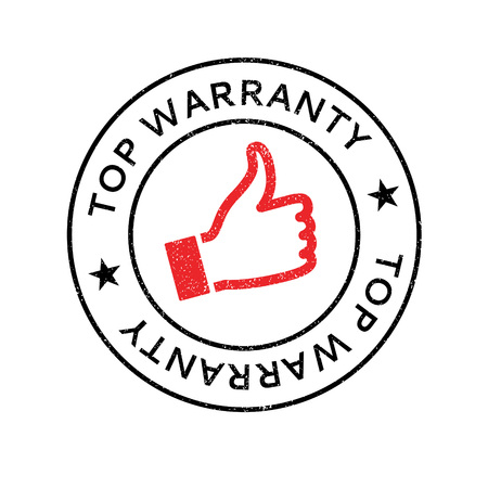 preeminent: Top Warranty rubber stamp. Grunge design with dust scratches. Effects can be easily removed for a clean, crisp look. Color is easily changed.