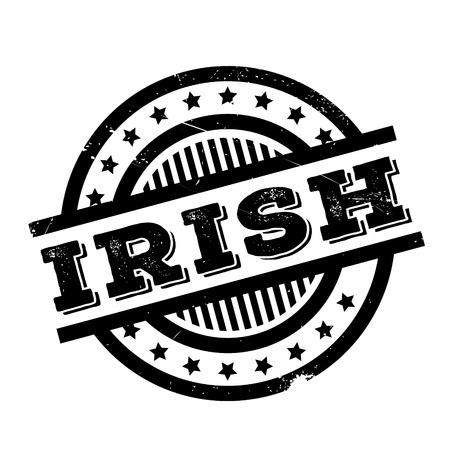 Irish rubber stamp. Grunge design with dust scratches. Effects can be easily removed for a clean, crisp look. Color is easily changed.