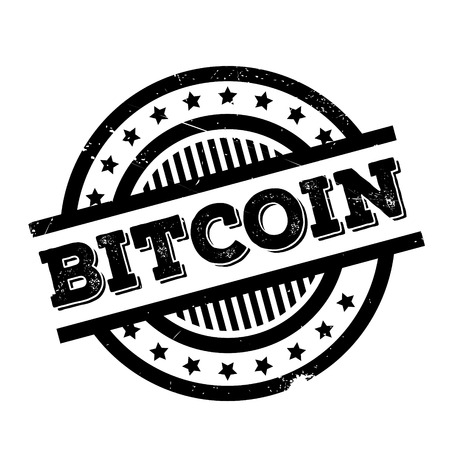 Bitcoin rubber stamp. Grunge design with dust scratches. Effects can be easily removed for a clean, crisp look. Color is easily changed.