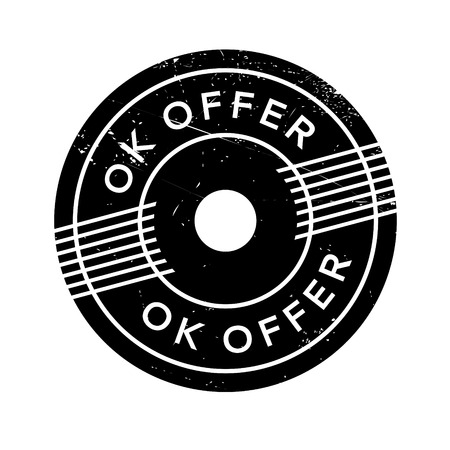 overture: Ok Offer rubber stamp. Grunge design with dust scratches. Effects can be easily removed for a clean, crisp look. Color is easily changed.