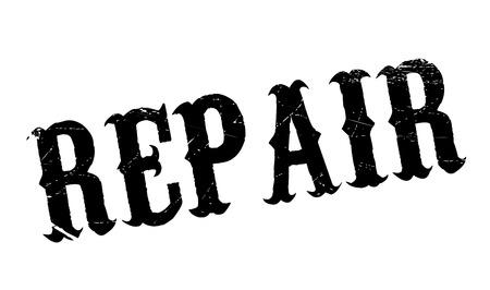 Reparar el sello de goma. Diseño de Grunge con los rasguños polvo. Los efectos se pueden quitar fácilmente para una apariencia limpia y nítida. En color se cambia fácilmente.