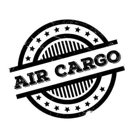 Air Cargo rubber stamp. Grunge design with dust scratches. Effects can be easily removed for a clean, crisp look. Color is easily changed. Illustration