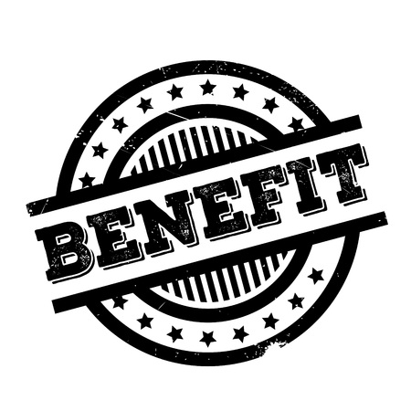 Benefit rubber stamp. Grunge design with dust scratches. Effects can be easily removed for a clean, crisp look. Color is easily changed.