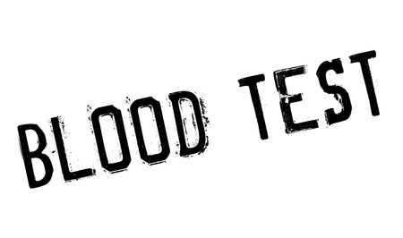 metabolic disease: Blood Test rubber stamp. Grunge design with dust scratches. Effects can be easily removed for a clean, crisp look. Color is easily changed.