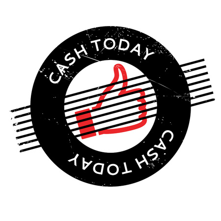 existent: Cash Today rubber stamp. Grunge design with dust scratches. Effects can be easily removed for a clean, crisp look. Color is easily changed. Illustration