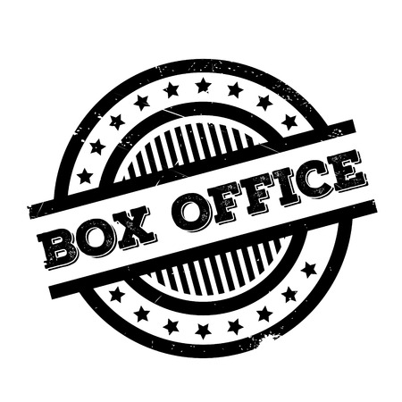 Box Office rubber stamp. Grunge design with dust scratches. Effects can be easily removed for a clean, crisp look. Color is easily changed. Illustration
