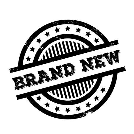 Marque stamp Nouveau en caoutchouc. conception grunge avec des rayures de poussière. Les effets peuvent être facilement enlevés pour un aspect propre et croustillant. La couleur est facilement changée.