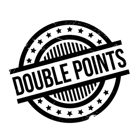 Double Points rubber stamp. Grunge design with dust scratches. Effects can be easily removed for a clean, crisp look. Color is easily changed.
