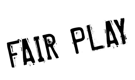 fair play: Fair Play rubber stamp. Grunge design with dust scratches. Effects can be easily removed for a clean, crisp look. Color is easily changed.