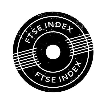 footsie: Ftse Index rubber stamp. Grunge design with dust scratches. Effects can be easily removed for a clean, crisp look. Color is easily changed. Illustration