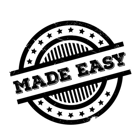 Made Easy rubber stamp. Grunge design with dust scratches. Effects can be easily removed for a clean, crisp look. Color is easily changed. Illustration