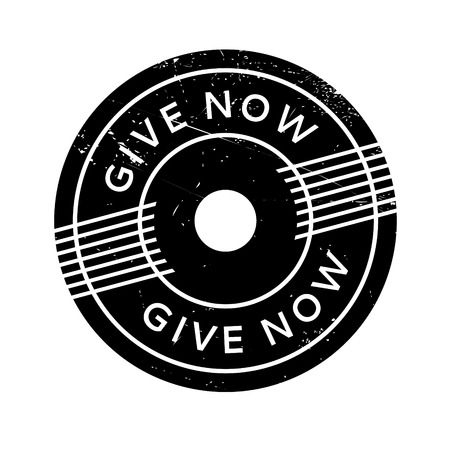 granting: Give Now rubber stamp. Grunge design with dust scratches. Effects can be easily removed for a clean, crisp look. Color is easily changed.