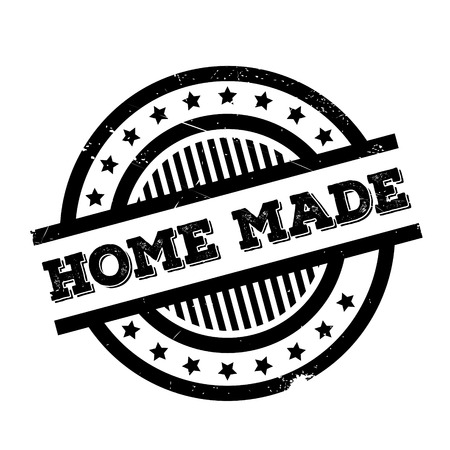 home grown: Home Made rubber stamp. Grunge design with dust scratches. Effects can be easily removed for a clean, crisp look. Color is easily changed. Illustration
