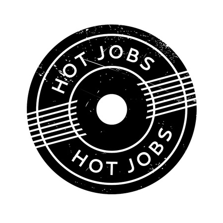 sweltering: Hot Jobs rubber stamp. Grunge design with dust scratches. Effects can be easily removed for a clean, crisp look. Color is easily changed.