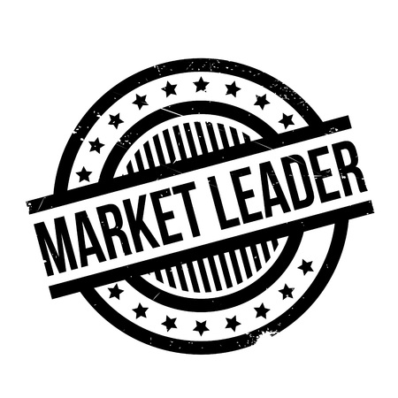 Market Leader rubber stamp. Grunge design with dust scratches. Effects can be easily removed for a clean, crisp look. Color is easily changed.