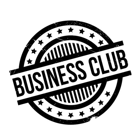 Business Club rubber stamp. Grunge design with dust scratches. Effects can be easily removed for a clean, crisp look. Color is easily changed.