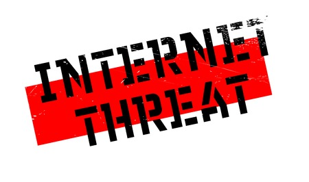 threat: Internet Threat rubber stamp. Grunge design with dust scratches. Effects can be easily removed for a clean, crisp look. Color is easily changed. Illustration