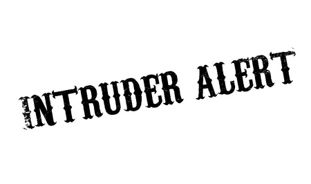 burglar alarm: Intruder Alert rubber stamp. Grunge design with dust scratches. Effects can be easily removed for a clean, crisp look. Color is easily changed.