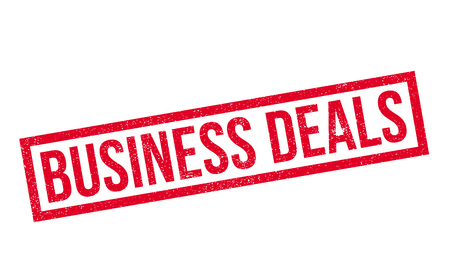 pledge: Business Deals rubber stamp. Grunge design with dust scratches. Effects can be easily removed for a clean, crisp look. Color is easily changed.