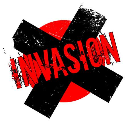 violación: Sello de goma de la invasión. Diseño de Grunge con los rasguños polvo. Los efectos se pueden quitar fácilmente para una apariencia limpia y nítida. En color se cambia fácilmente.