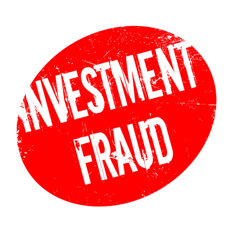 Investment Fraud rubber stamp. Grunge design with dust scratches. Effects can be easily removed for a clean, crisp look. Color is easily changed. Illustration