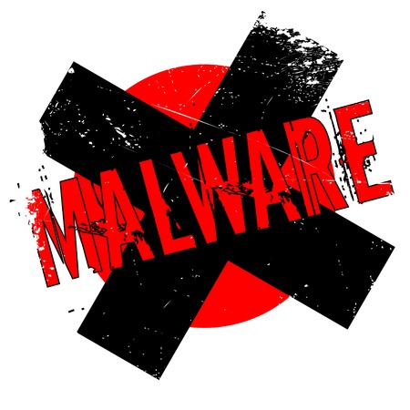 firewall: Malware rubber stamp. Grunge design with dust scratches. Effects can be easily removed for a clean, crisp look. Color is easily changed. Illustration