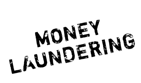 insider trading: Money Laundering rubber stamp. Grunge design with dust scratches. Effects can be easily removed for a clean, crisp look. Color is easily changed.