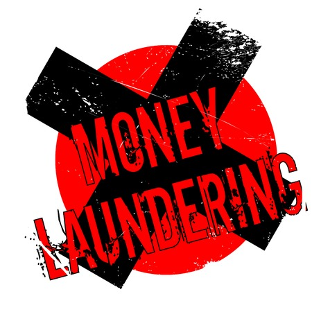laundering: Money Laundering rubber stamp. Grunge design with dust scratches. Effects can be easily removed for a clean, crisp look. Color is easily changed.