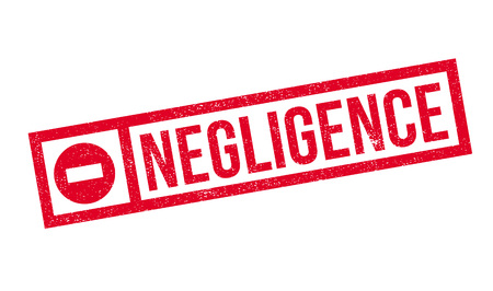 inattention: Negligence rubber stamp. Grunge design with dust scratches. Effects can be easily removed for a clean, crisp look. Color is easily changed.