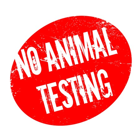 No Animal Testing rubber stamp. Grunge design with dust scratches. Effects can be easily removed for a clean, crisp look. Color is easily changed.