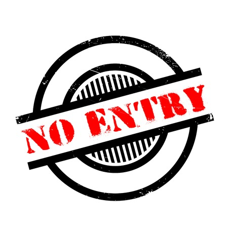 not permitted: No Entry rubber stamp. Grunge design with dust scratches. Effects can be easily removed for a clean, crisp look. Color is easily changed.