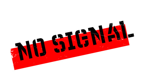 no signal: No Signal rubber stamp. Grunge design with dust scratches. Effects can be easily removed for a clean, crisp look. Color is easily changed. Illustration