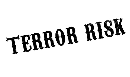 hijacking: Terror Risk rubber stamp. Grunge design with dust scratches. Effects can be easily removed for a clean, crisp look. Color is easily changed.