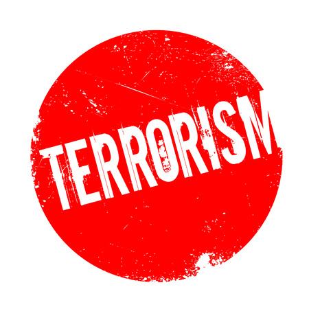 convulsión: Sello de goma de terrorismo. Diseño de Grunge con los rasguños polvo. Los efectos se pueden quitar fácilmente para una apariencia limpia y nítida. En color se cambia fácilmente. Vectores