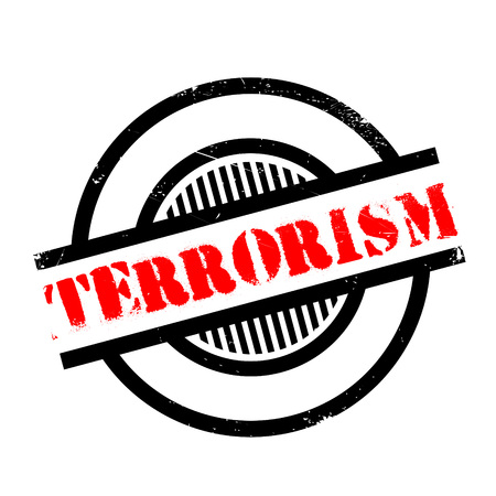 lawlessness: Terrorism rubber stamp. Grunge design with dust scratches. Effects can be easily removed for a clean, crisp look. Color is easily changed.