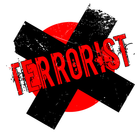 fbi: Terrorist rubber stamp. Grunge design with dust scratches. Effects can be easily removed for a clean, crisp look. Color is easily changed.