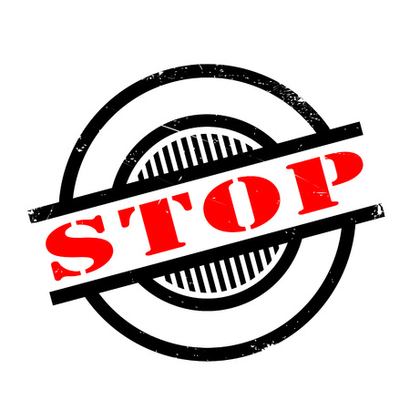 Stop rubber stamp. Grunge design with dust scratches. Effects can be easily removed for a clean, crisp look. Color is easily changed.