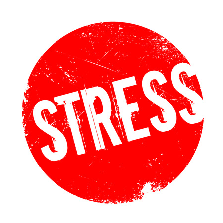 Stress rubber stamp. Grunge design with dust scratches. Effects can be easily removed for a clean, crisp look. Color is easily changed.