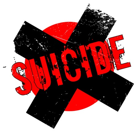 stimulate: Suicide rubber stamp. Grunge design with dust scratches. Effects can be easily removed for a clean, crisp look. Color is easily changed.