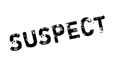 suspected: Suspect rubber stamp. Grunge design with dust scratches. Effects can be easily removed for a clean, crisp look. Color is easily changed.